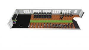 Upstairs fitness suite