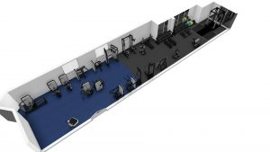 Downstairs gym floor plan