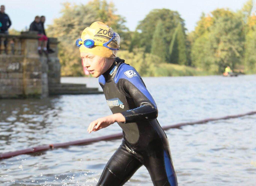 Swimming triathlon at Hever Castle