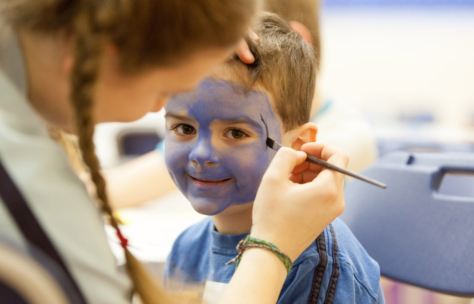 Children Face Painting at Holiday Club