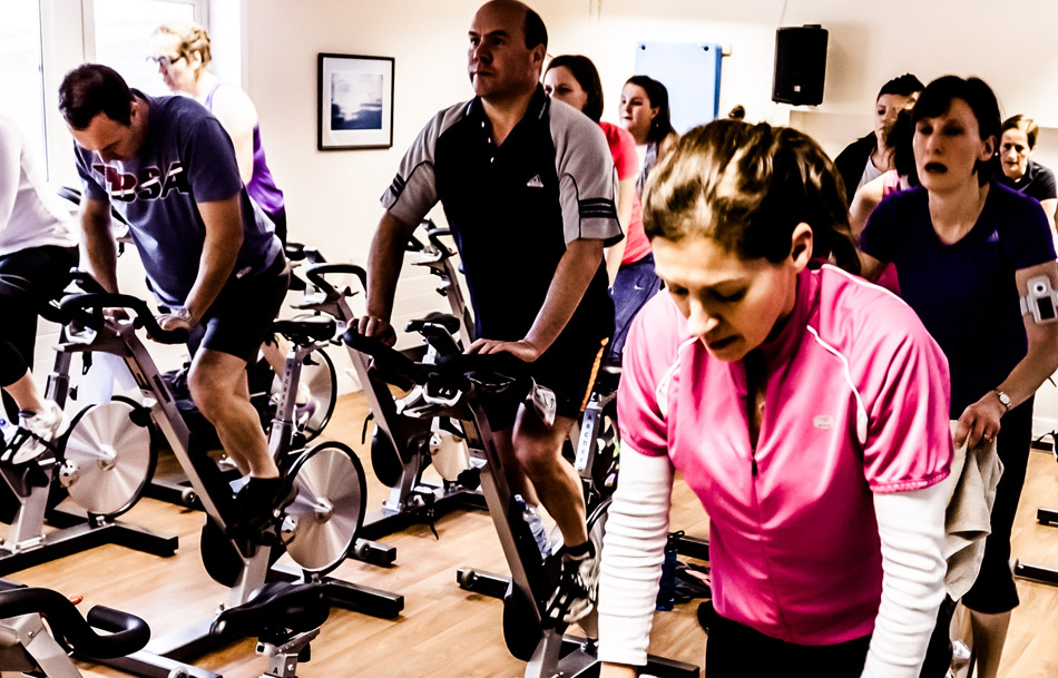 Indoor group cycling
