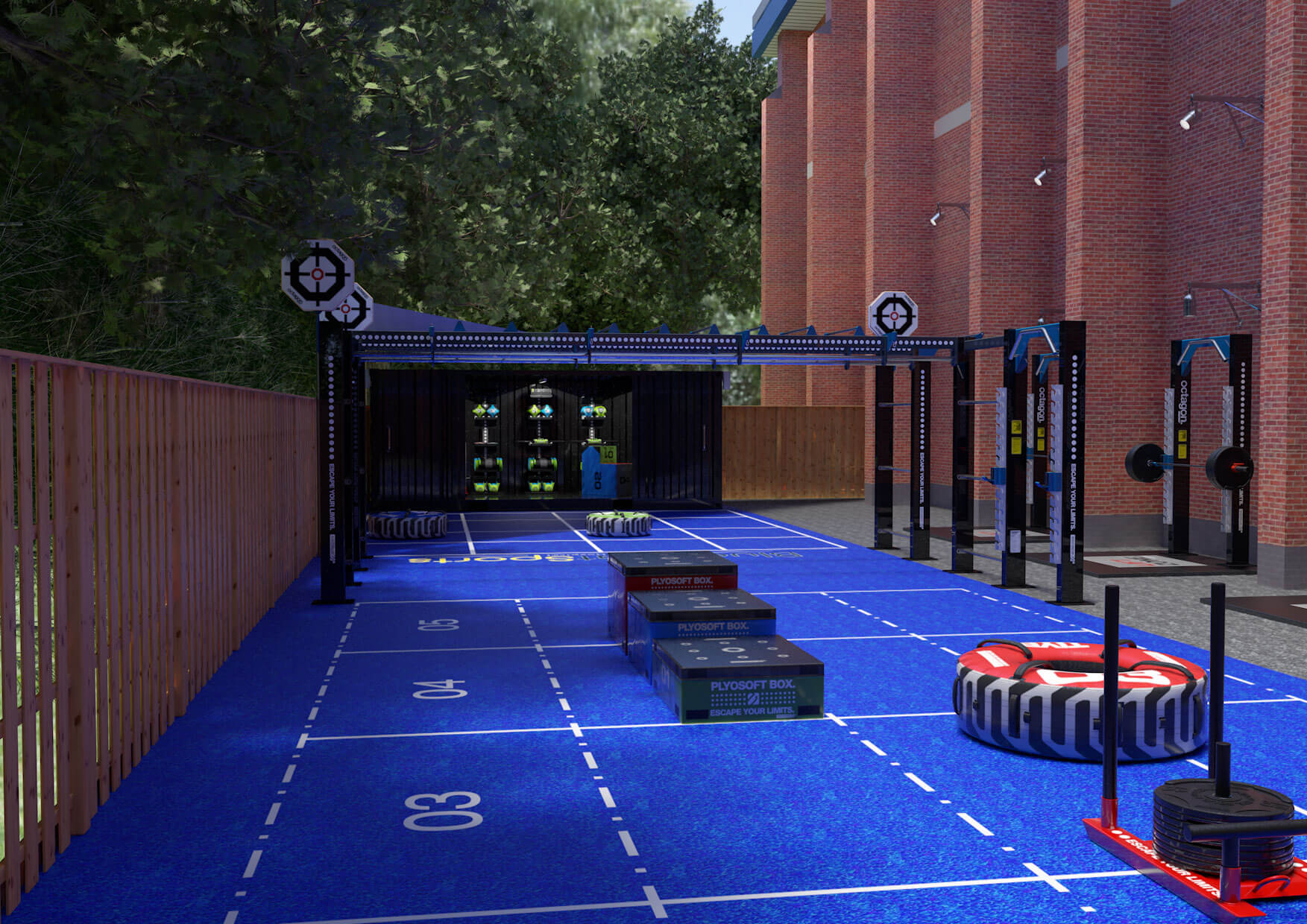 Mock up of The Fitness Yard